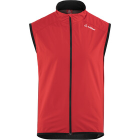 Löffler Windstopper Active Gilet de cyclisme Homme, red